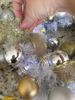 Making A Christmas Wreath-Garland