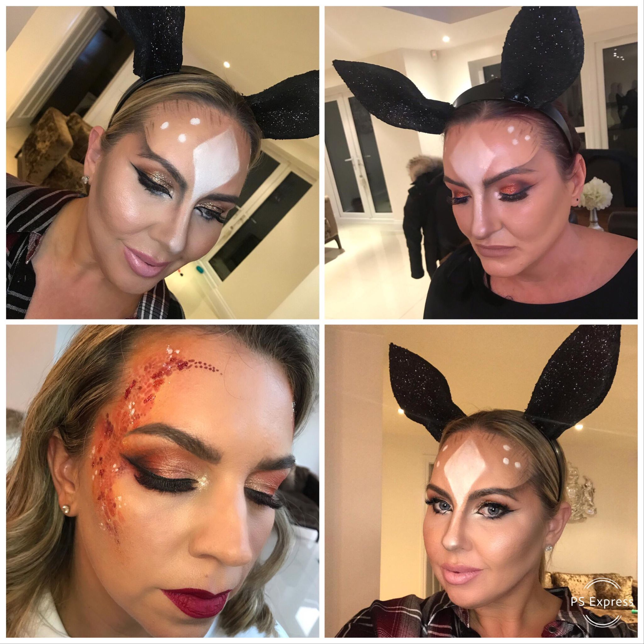 Ashleigh Brunce MUA created our makeup looks for Leah Wrights 40th Birthday Party