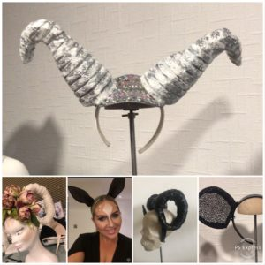 Victoria Charles created amazing head pieces for Leah Wrights Fancy Dress Birthday Party