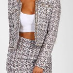 PINK BOUTIQUE -MULTI COLOURED TWEED BLAZER