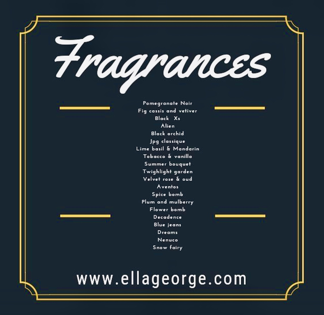 Ella George Luxury Soy Candles
