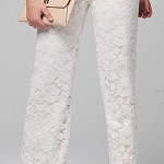 SIMPLY BE WHITE LACE TROUSERS