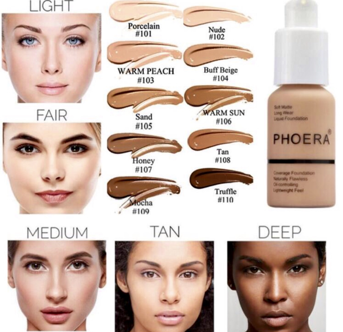 Full Coverage Foundation - Phoera  - choice  your shade
