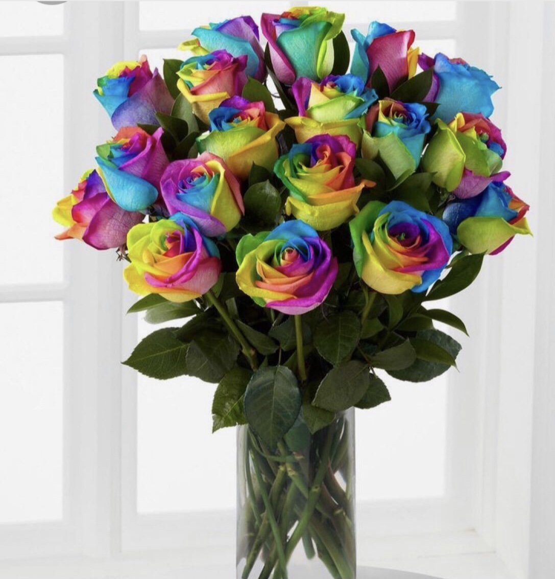 Valentines Day Gift Ideas for Lockdown - rainbow roses