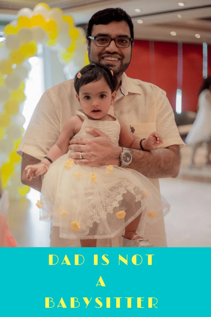Dad fatherhood babysitter parent