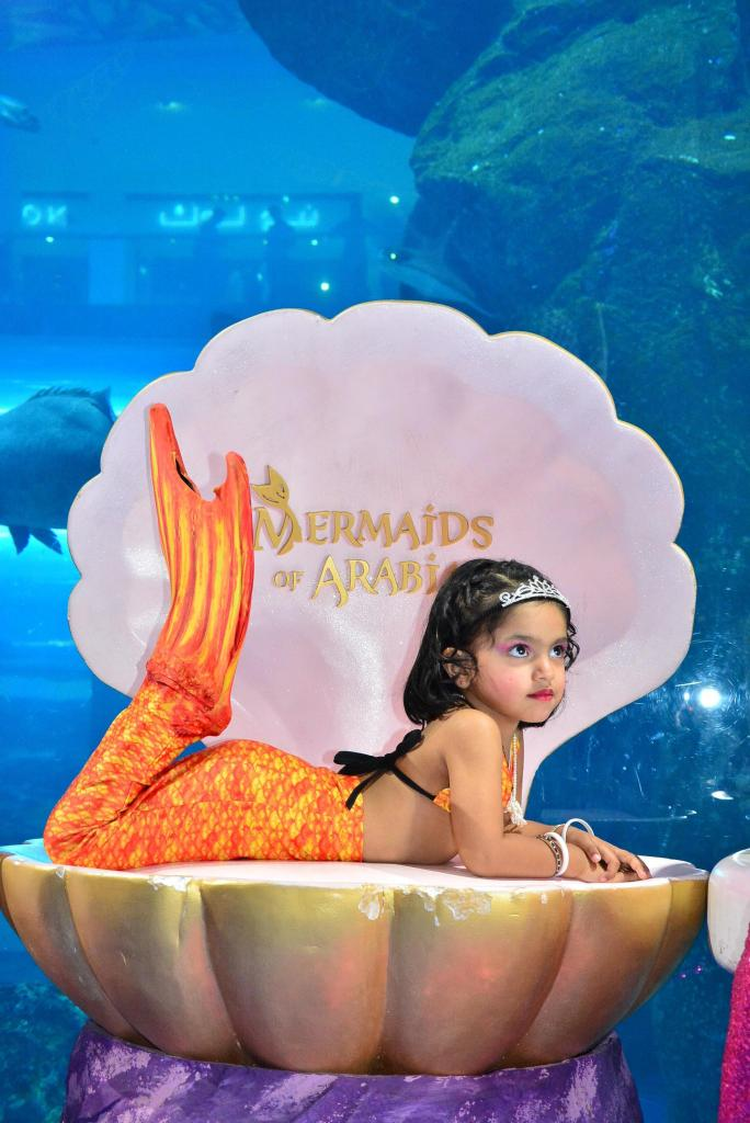 Enjoy a makeover for kids in mermaids of arabia