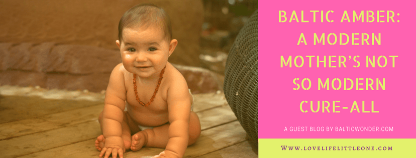 Baltic wonders amber teething necklace for babies