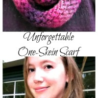 Free Knitting Pattern - Unforgettable One Skein Scarf
