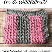 Easy Weekend Baby Blanket - Free Crochet Pattern