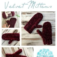 Velvet Mittens - Free Knitting and Crochet Pattern