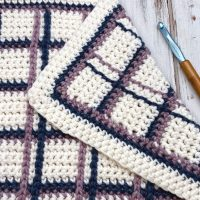 Tartan Plaid Blanket - Free Crochet Pattern