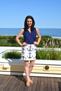 Anchors Navy, Meredith Skirt w Gold Rope