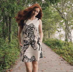 Tiger Lilly Cream, Catalina Dress
