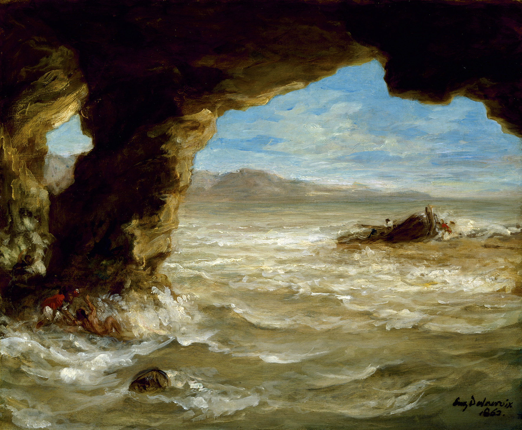 Shipwreck on the Coast, 1862 (oil on canvas)