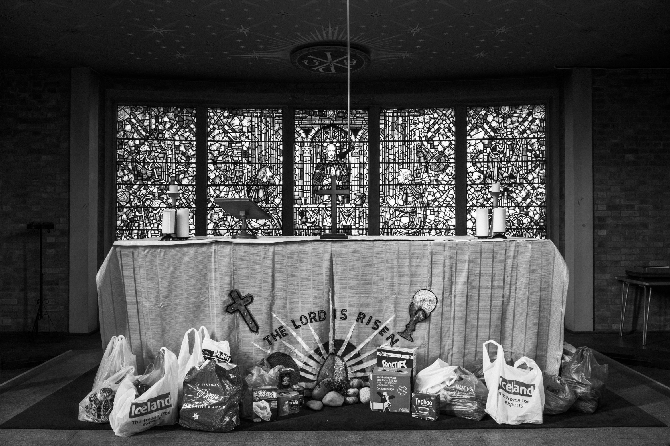 Foodbank Donations, Of things not seen. A year in the life of a London priest, Jim Grover, L1030724-
