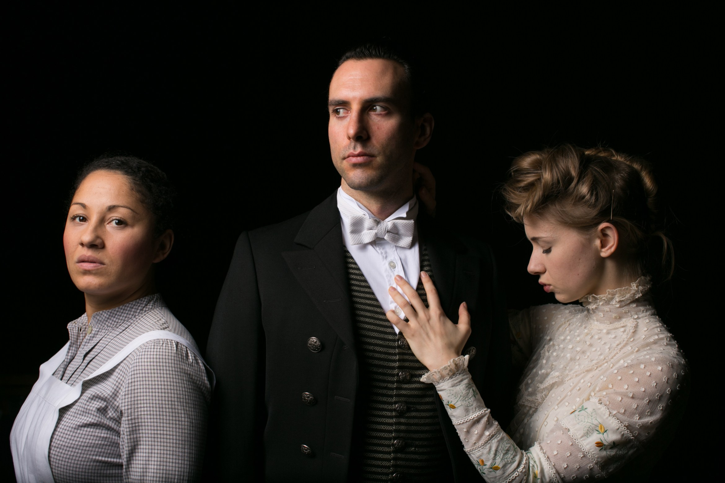 Buckland Charlie Dorfman as Jean, Danielle Henry as Kristin and Laura Greenwood as Miss Julie Photo by Darren Bell.jpg