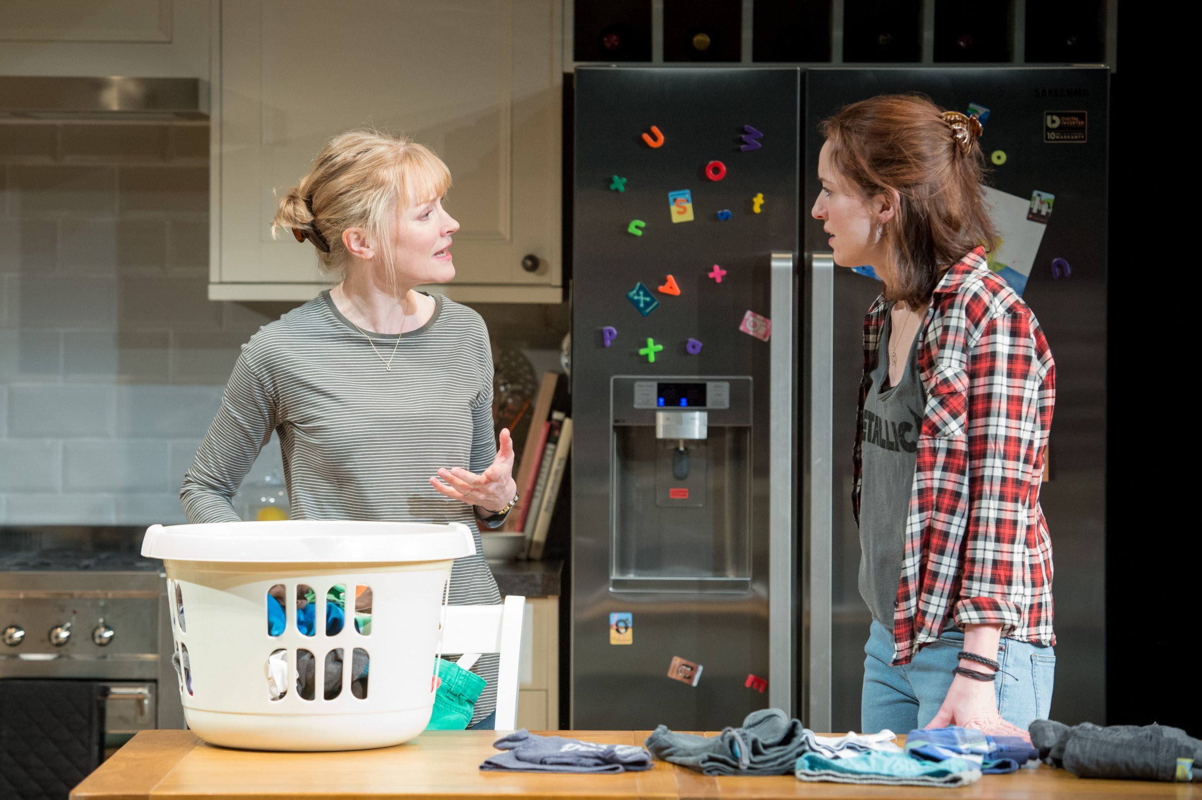 Claire Skinner (Becca) and Georgina Rich (Izzy) in Rabbit Hole at Hampstead Theatre. Photos by Manuel Harlan..jpg