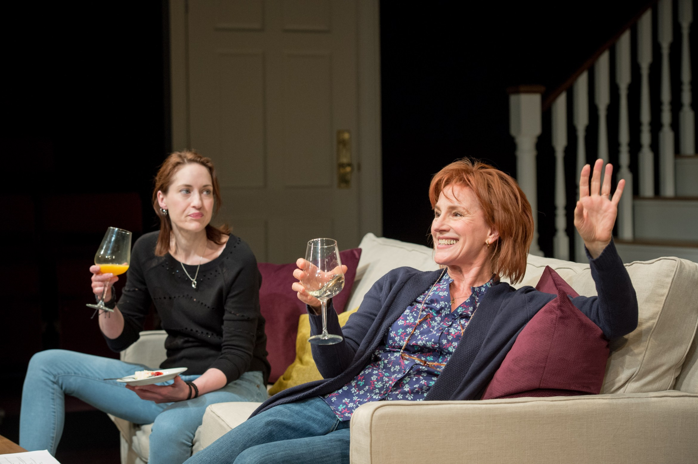 Georgina Rich (Izzy) and Penny Downie (Nat) in Rabbit Hole at Hampstead Theatre. Photos by Manuel Harlan. (1).jpg