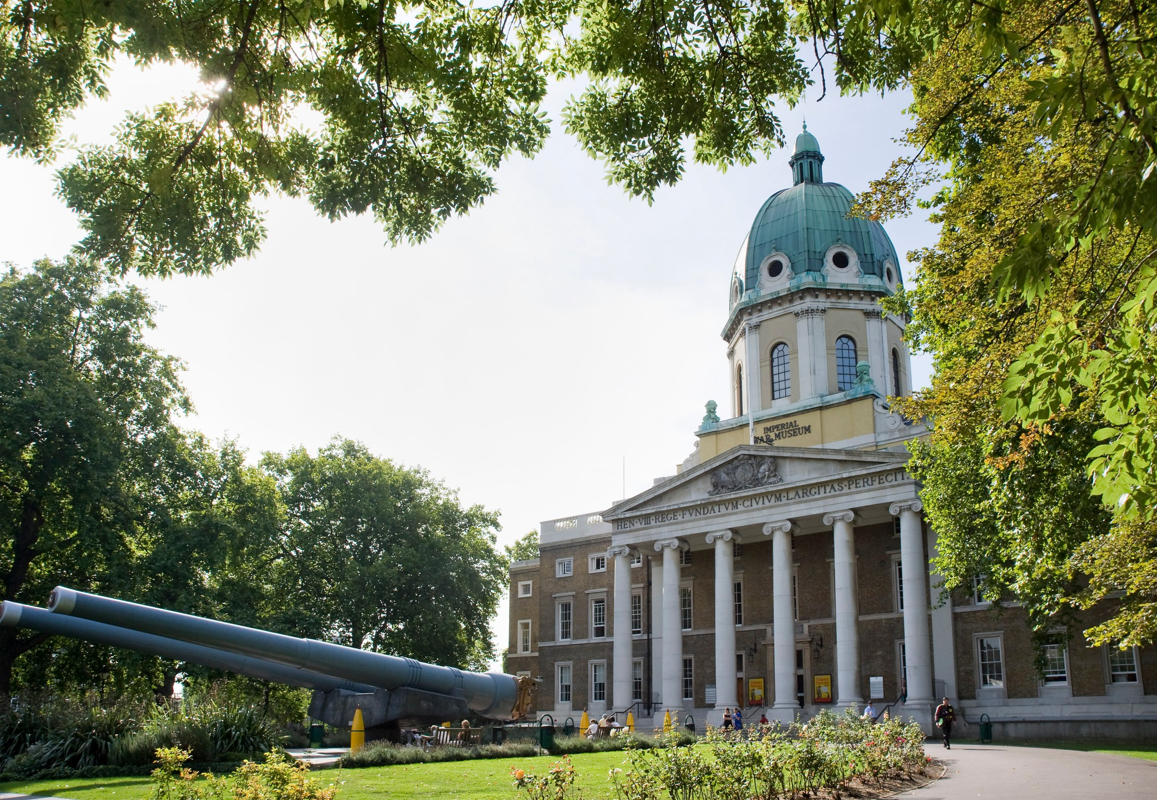 Exterior view of the front of IWM Main building