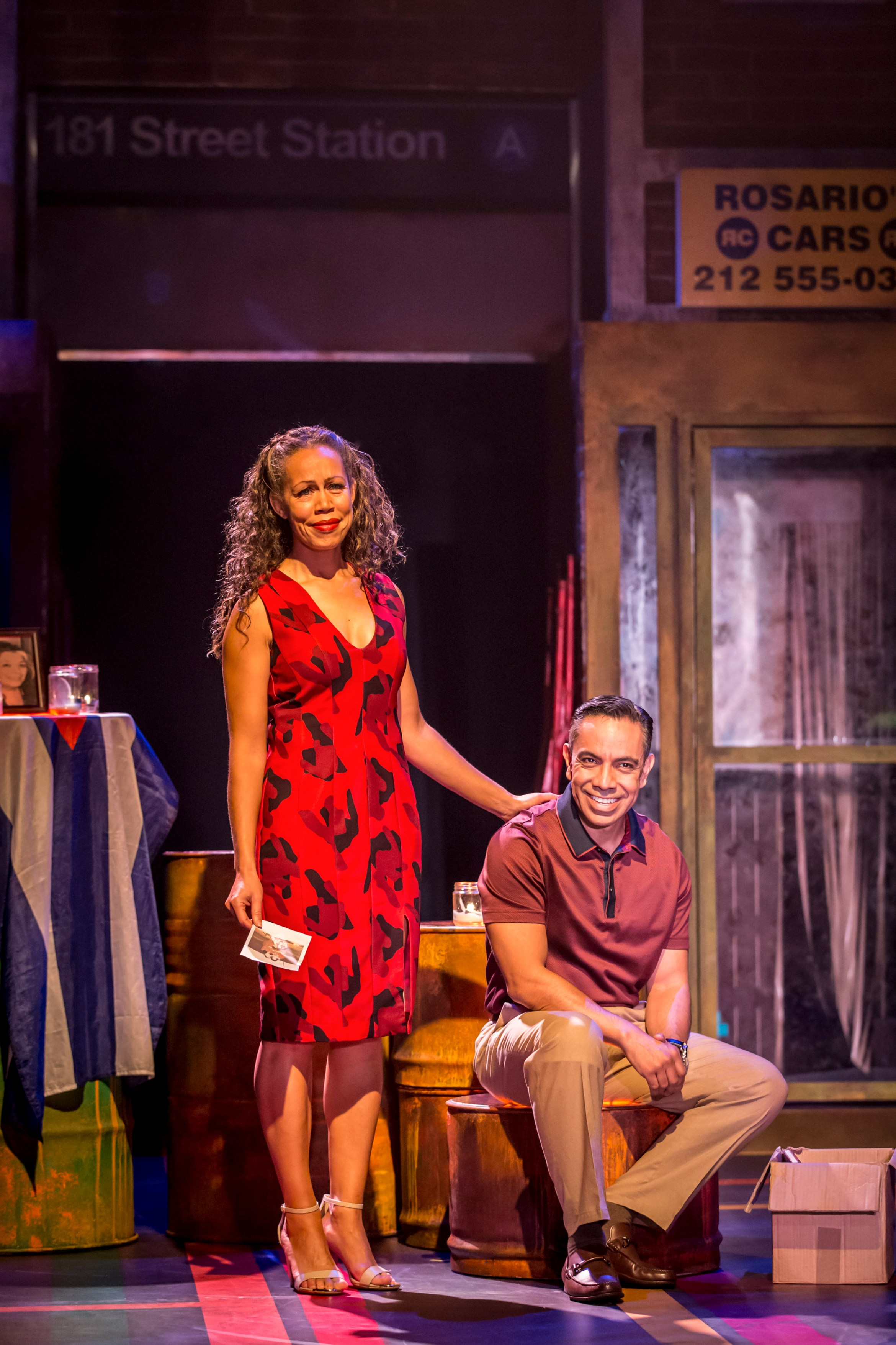 Josie Benson as Camila and David Bedella as Kevin in In The Heights. Photo Credit Johan Persson.jpg