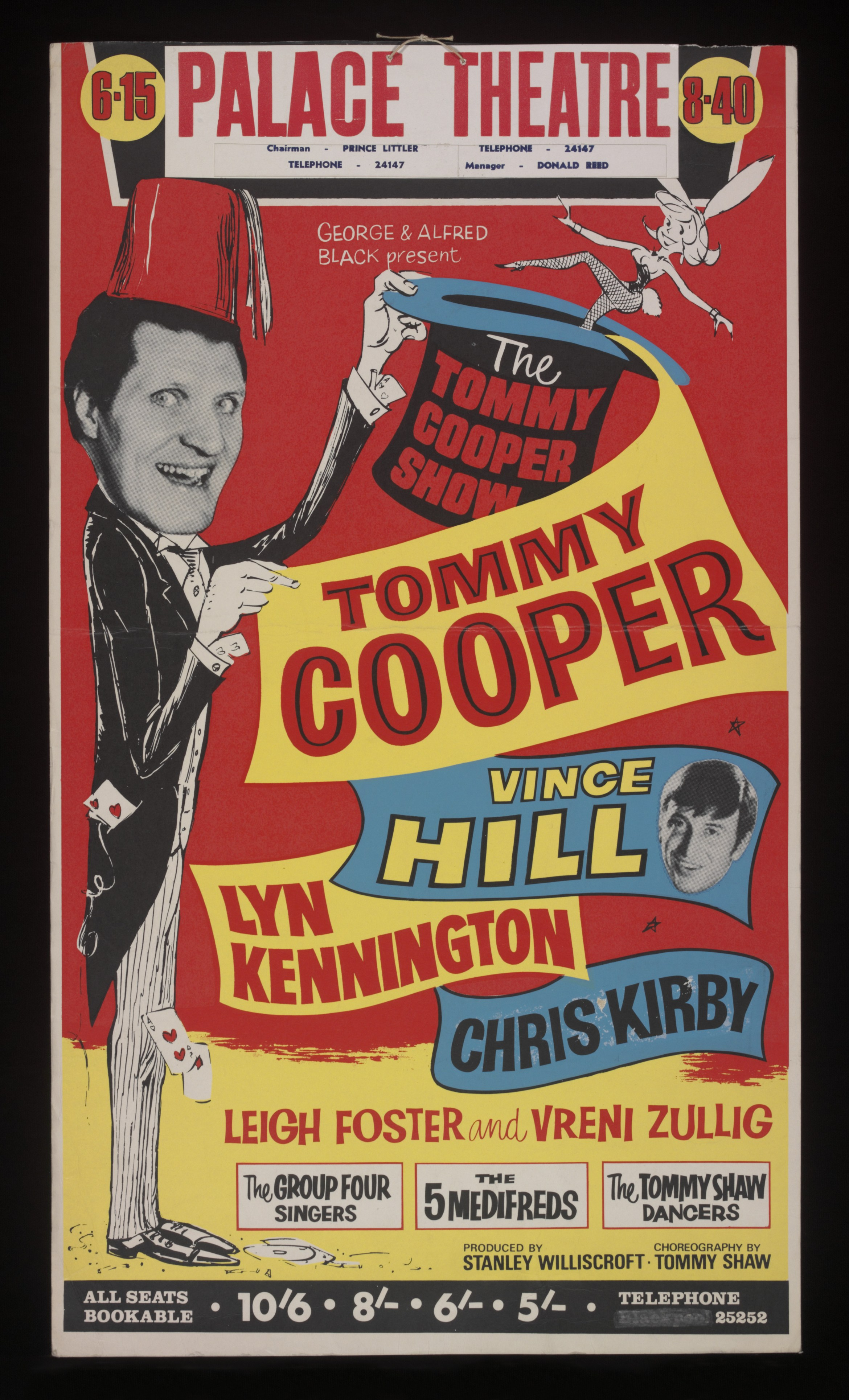 Poster for The Tommy Cooper Show at the Palace Theatre, Blackpool, 1968 (c) The Tommy Cooper Estate. Photograph - Victoria and Albert Museum, London.jpg