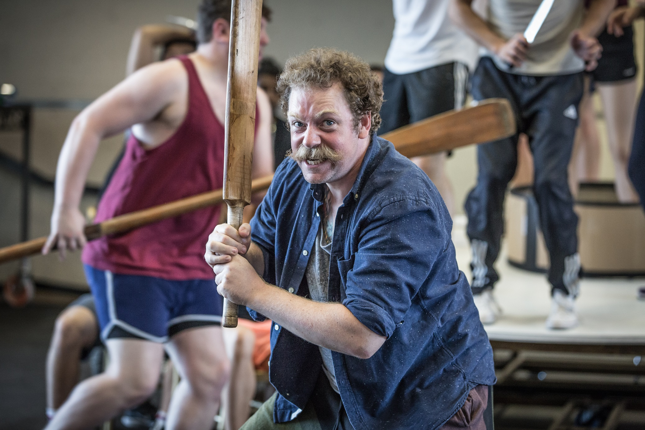 Rufus Hound in rehearsals for The Wind in the Willows Photo by Marc Brenner. Copyright Jamie Hendry Productions.jpg.jpg