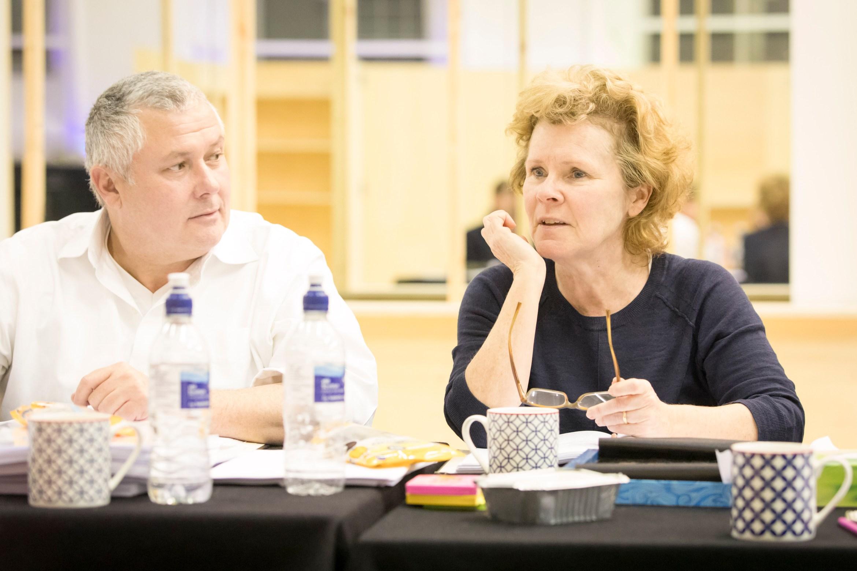 Conleth Hill and Imelda Staunton rehearse Edward Albee's Who's Afraid of Virginia Woolf- Credit Johan Persson.jpg.jpg