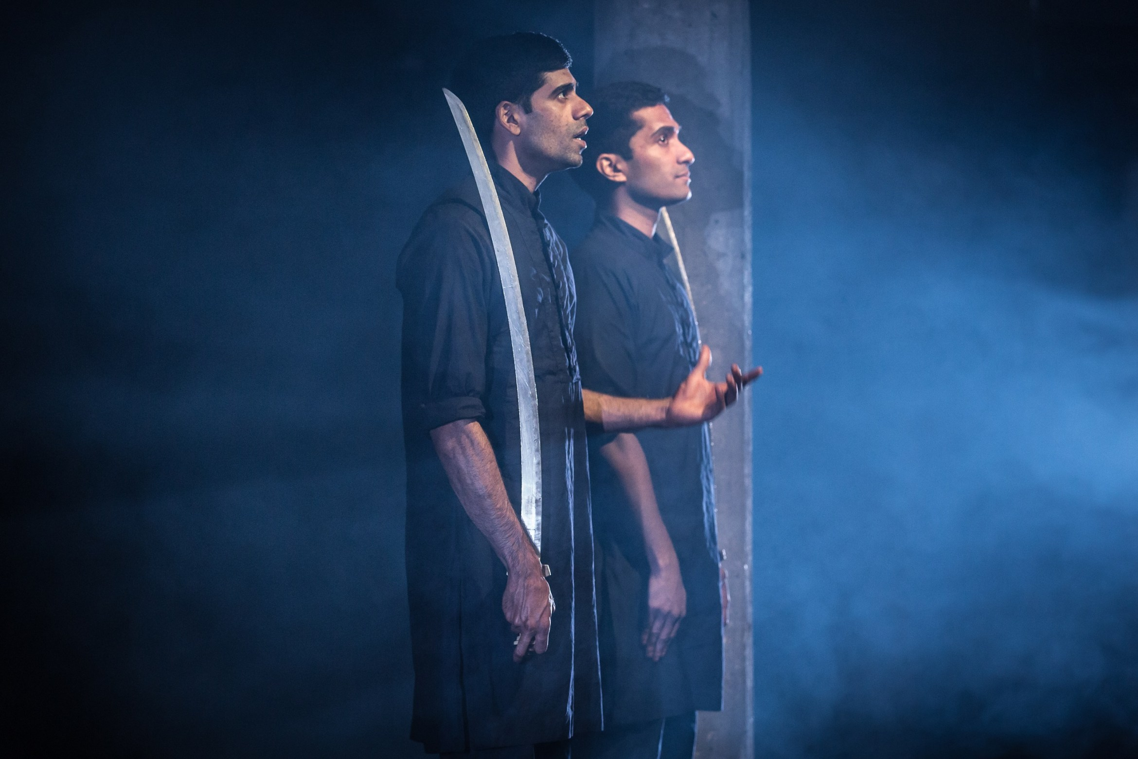 Darren Kuppan and Danny Ashok in Guards at the Taj at the Bush Theatre. Credit Marc Brenner.jpg