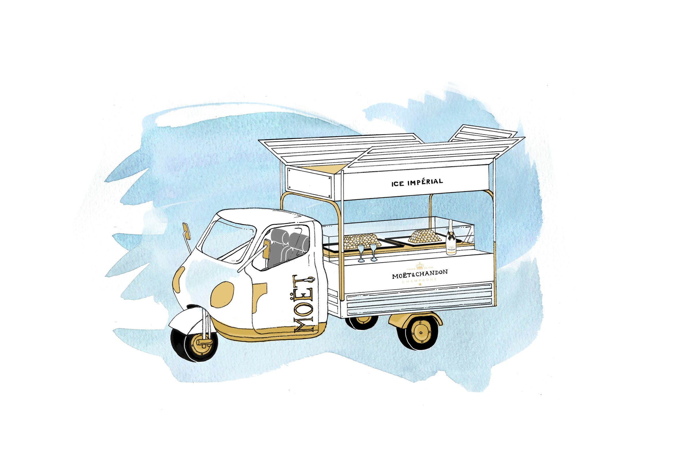 Moet Ice Truck at Bluebird - Illustration