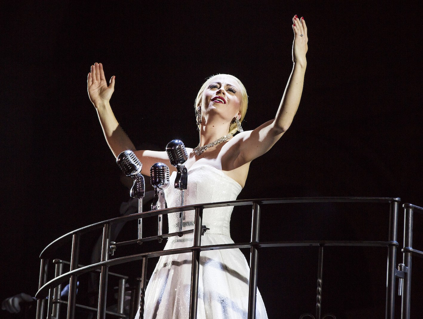Emma Hatton as Eva Perón in Evita - Pamela Raith Photography (056)