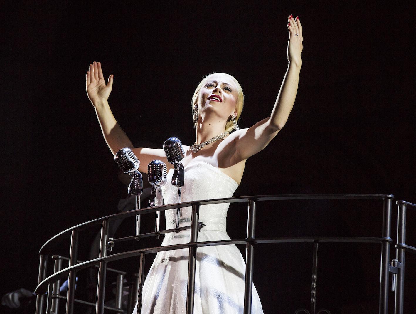 Emma Hatton as Eva Perón in Evita - Pamela Raith Photography (056)