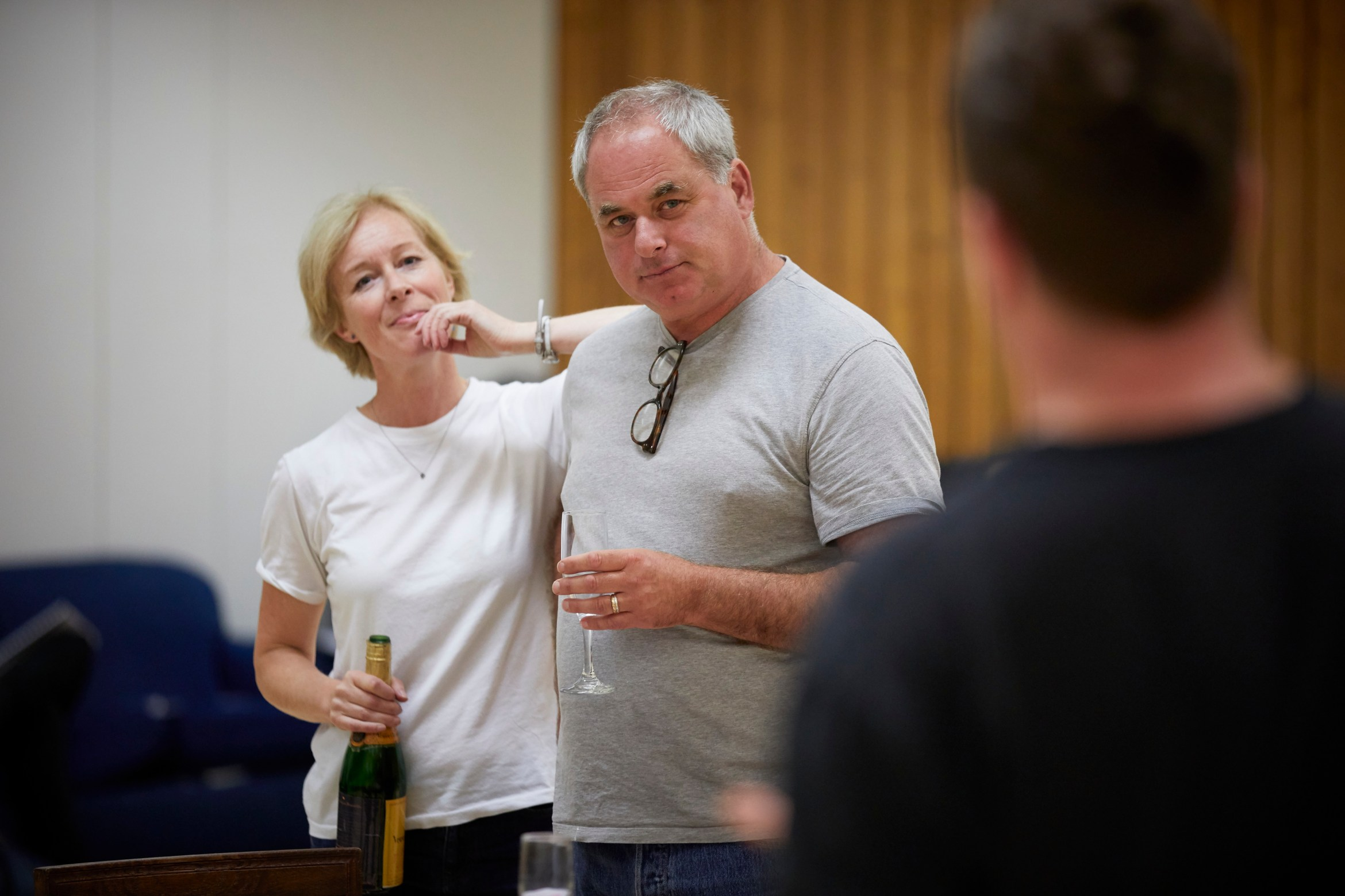 l-r Geraldine Alexander and Howard Ward in rehearsal for 'Oslo' - photo credit Brinkhoff Mögenberg.988-0166.JPG
