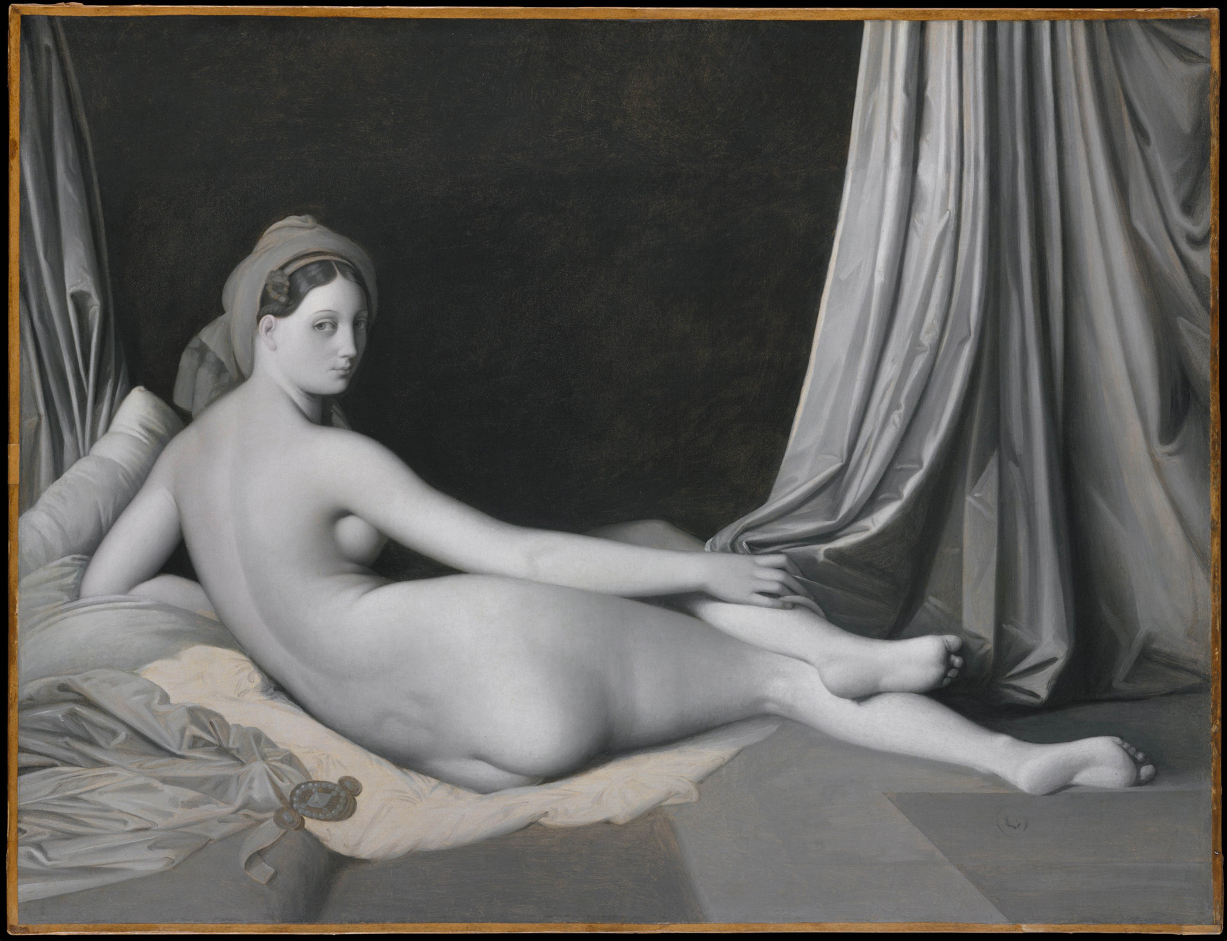 Odalisque in Grisaille, about 1824-34
