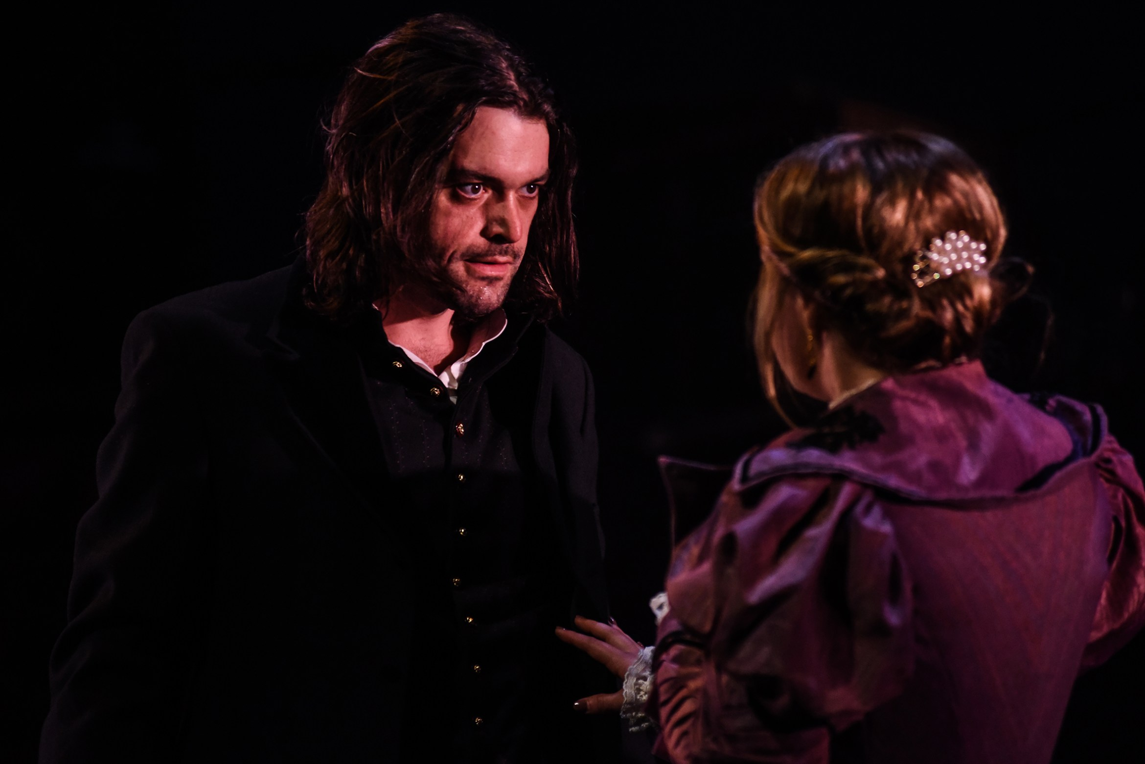 Jack Bannell and Paige Round in The Strange Case of Dr Jekyll & Mr Hyde, credit Alex Harvey-Brown.