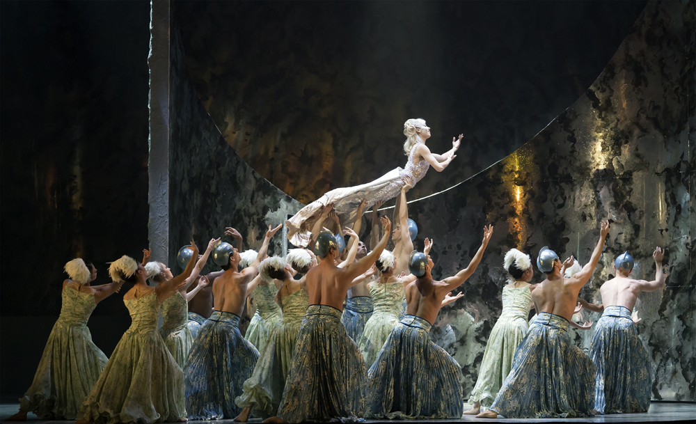 Abigail Prudames as Marilla with Northern Ballet dancers in David Nixons The Little Mermaid. Photo Emma Kauldhar. (2)
