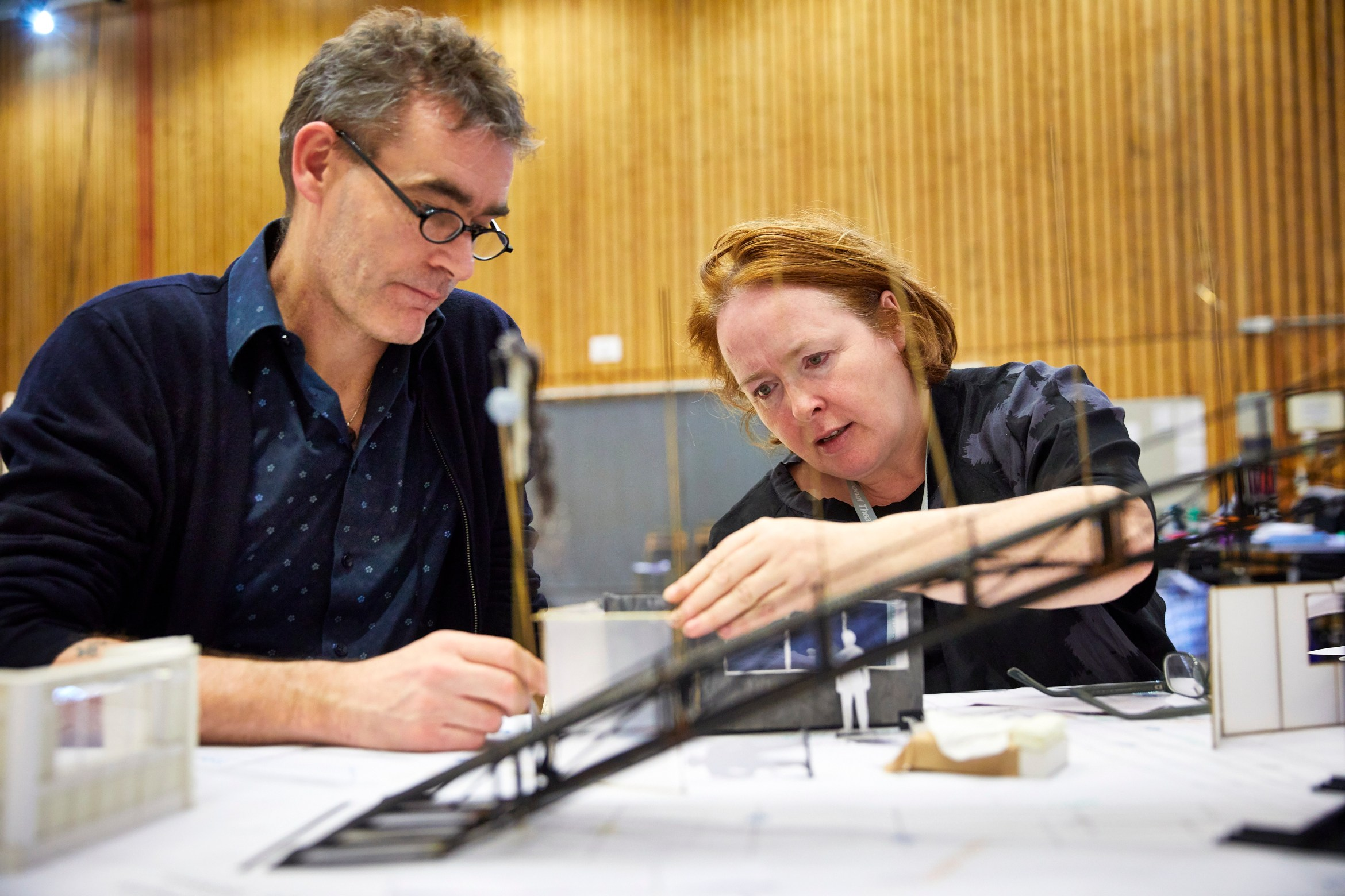 1002-0110 Rufus Norris and Rae Smith in rehearsals for Macbeth at the National Theatre (c) Brinkhoff and Moegenburg.JPG