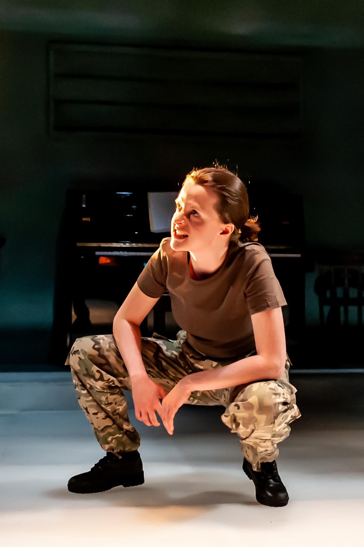 Not Talking at the Arcola Theatre. Gemma Lawrence (Amanda) Photo by Lidia Crisafulli.jpg