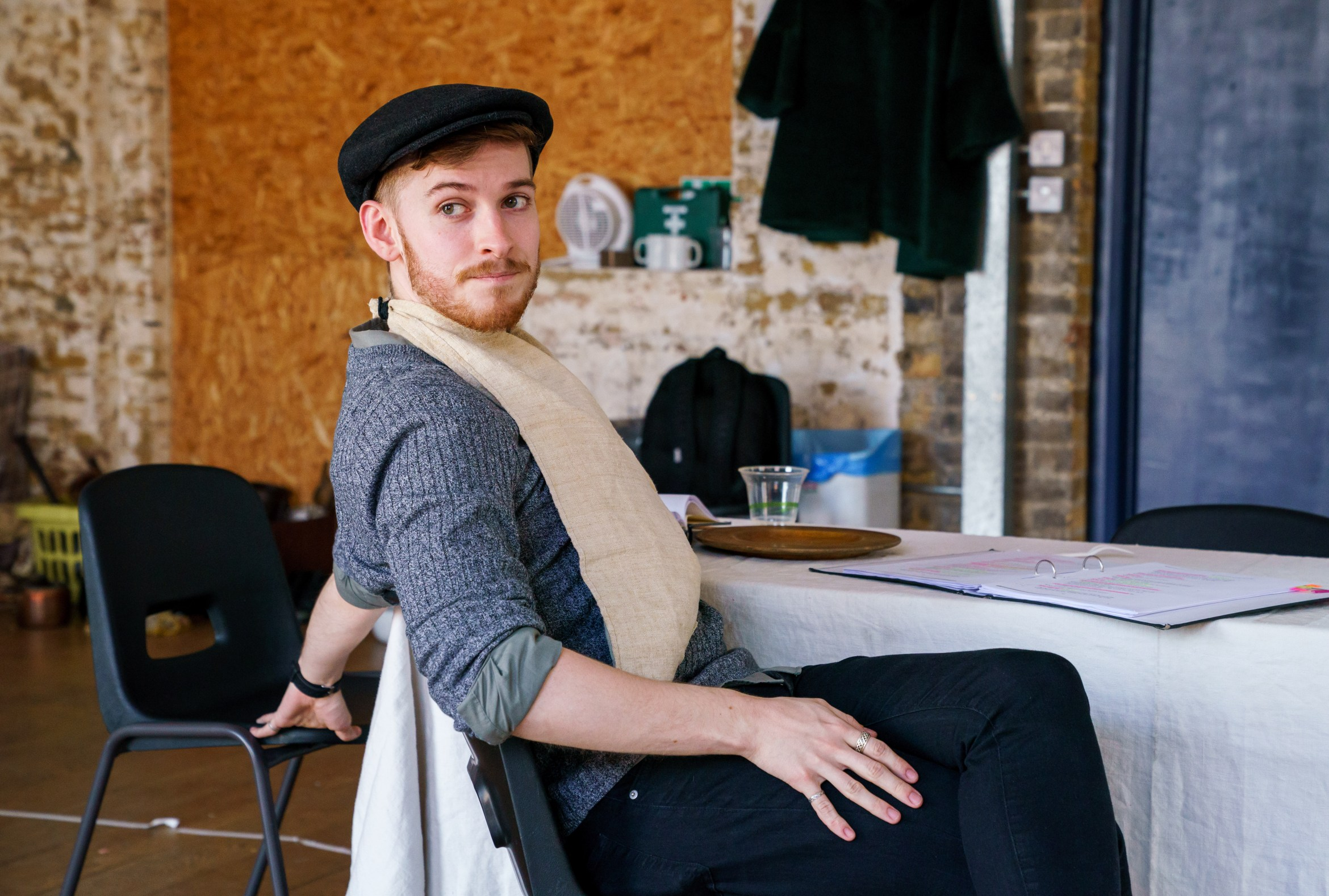 08 (c) Alex Brenner, no use without credit, Matthew Biddulph in rehearsals for The Daughter-in-Law at Arcola.jpg