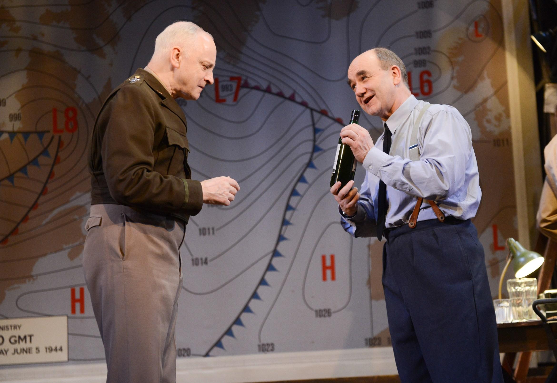 L-R Malcolm Sinclaire (General Eisenhower) & David Haig (Group Captain James Stagg) - Pressure - Park Theatre - Photograph by Robert Day (3522) copy