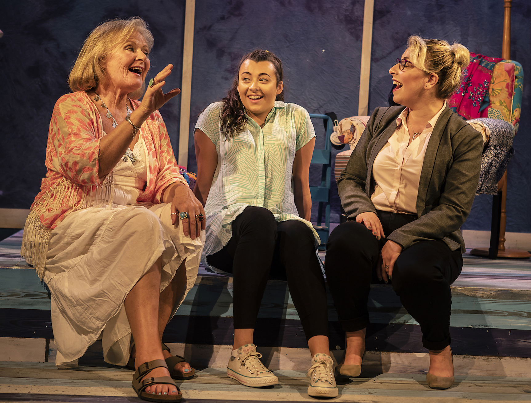 L-R Janet Fullerlove (Joy), Kelly Sweeney (Tamara) & Jodie Jacobs (Rachel) - Unexpected Joy at Southwark Parkhouse (c) Pamela Raith Photography_006