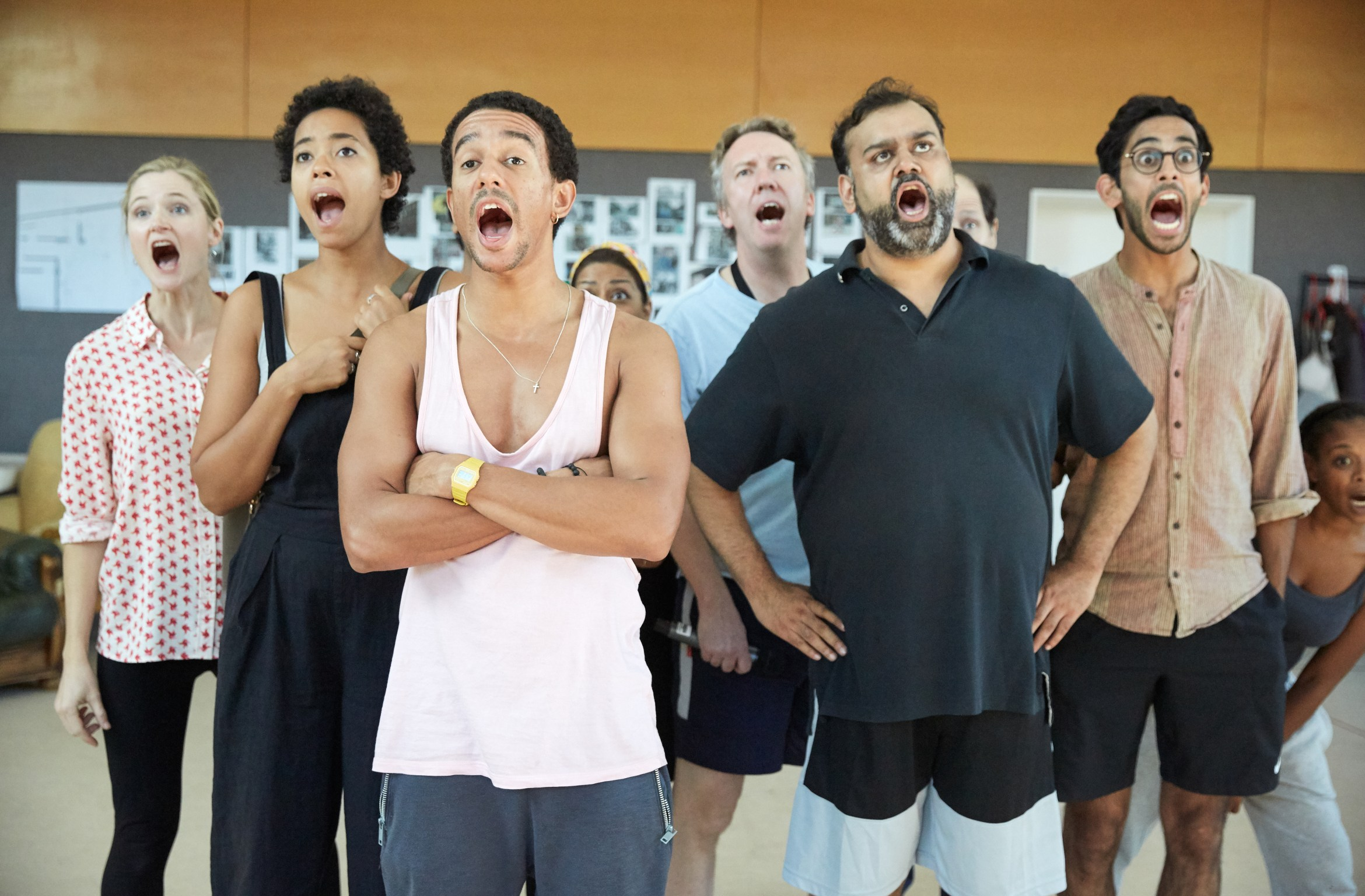 Company 2. White Teeth rehearsals at the Kiln Theatre. Photo by Mark Douet..jpg