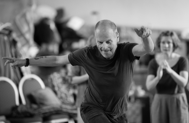 Mike Shepherd (Peregrine) in rehearsal for Wise Children . Photo by Steve Tanner..jpg