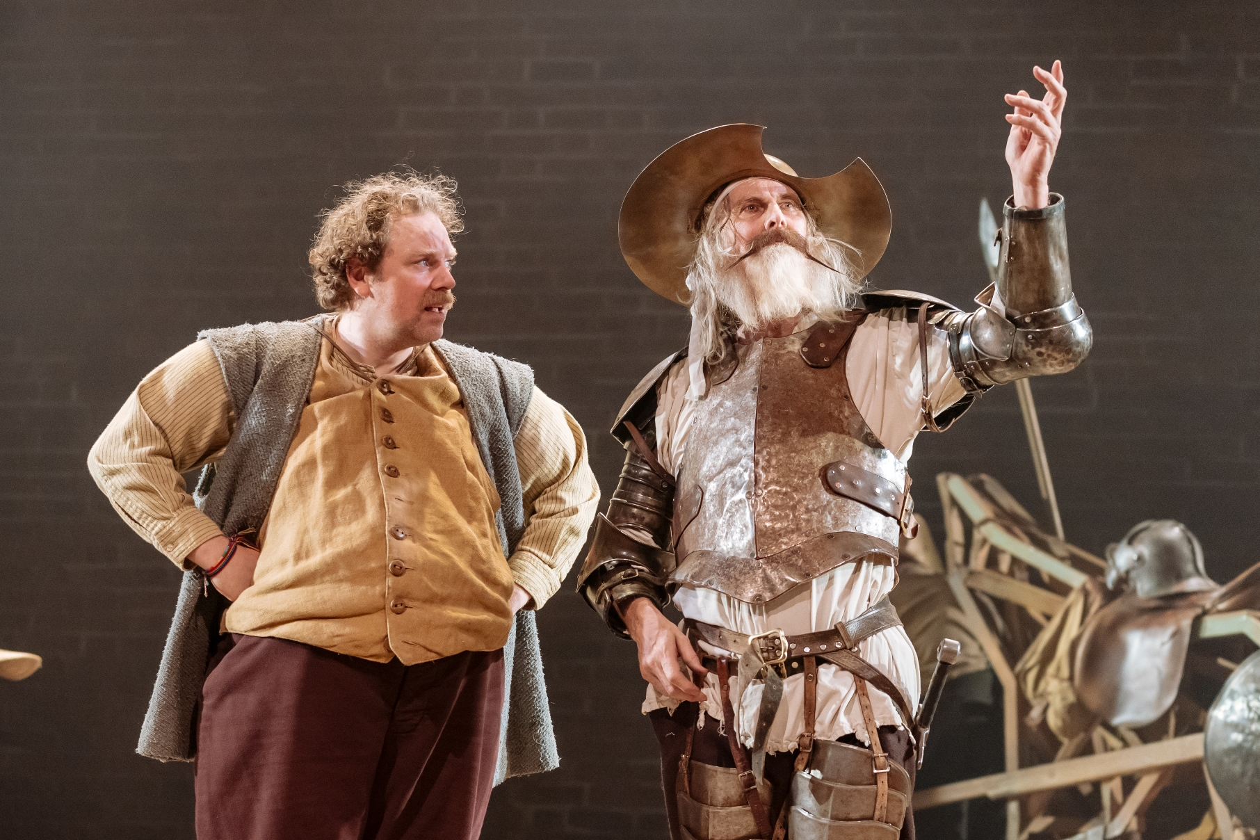 Rufus-Hound-and-David-Threlfall-in-the-Royal-Shakespeare-Companys-Don-Quixote.-London-2018.-Photography-by-Manuel-Harlan