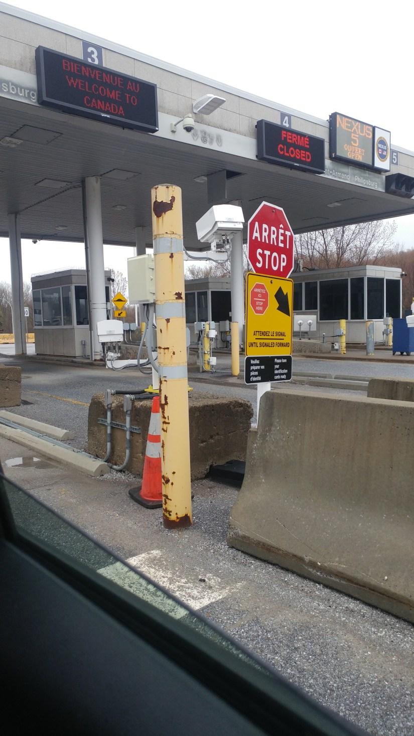 US- Canada border. Stop Arret sign... Unwifedmotherexpletive