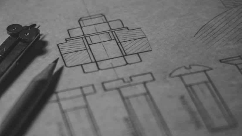 black illustration on white printer paper