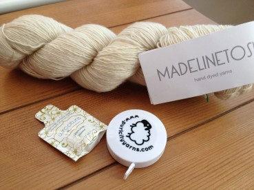 Madelinetosh Light in Antler with freebies from Purl City Yarns!