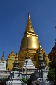 The amazing gold against the hot blue skies at The Grand Palace, Bangkok