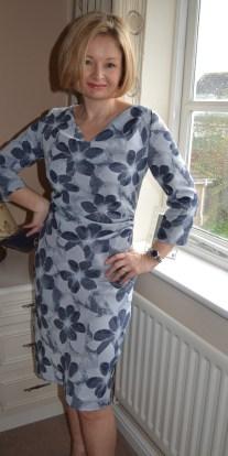 9. Burda syle Cowl Dress 102012