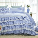 Blue Ruffle Bedding Set