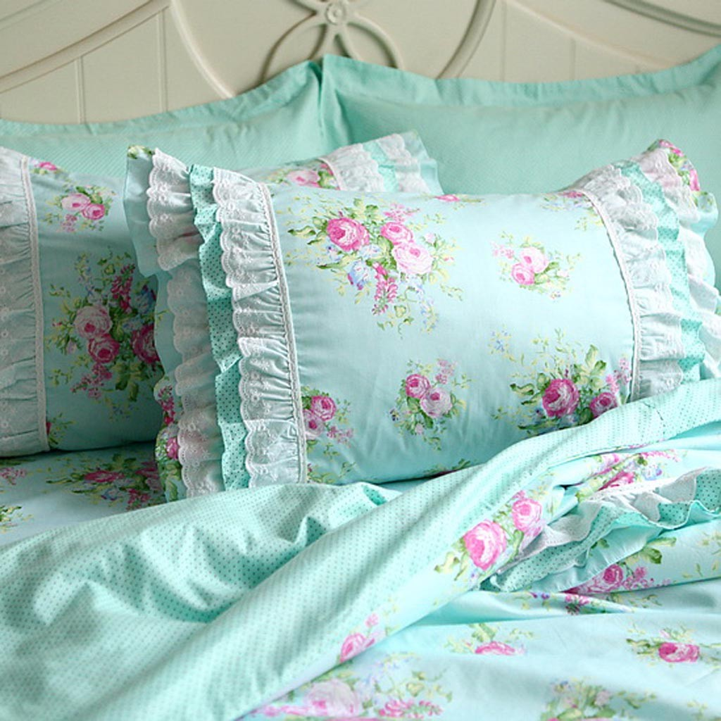 Green Rose Bedding Set